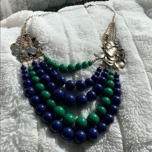Blue and Green Bead Necklace